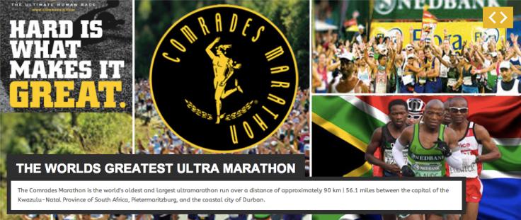 Banner no cabeçalho do site da Comrades