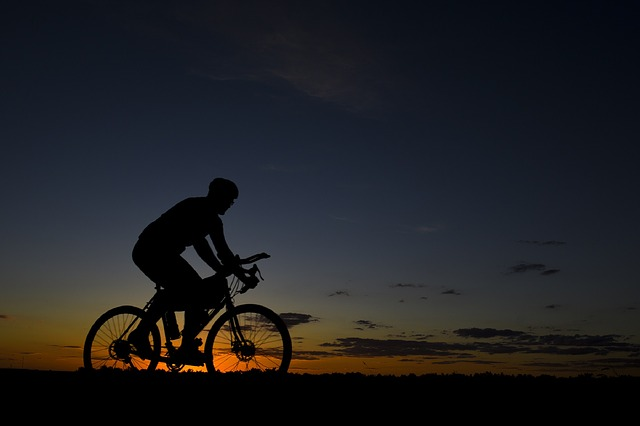 biking-sunset